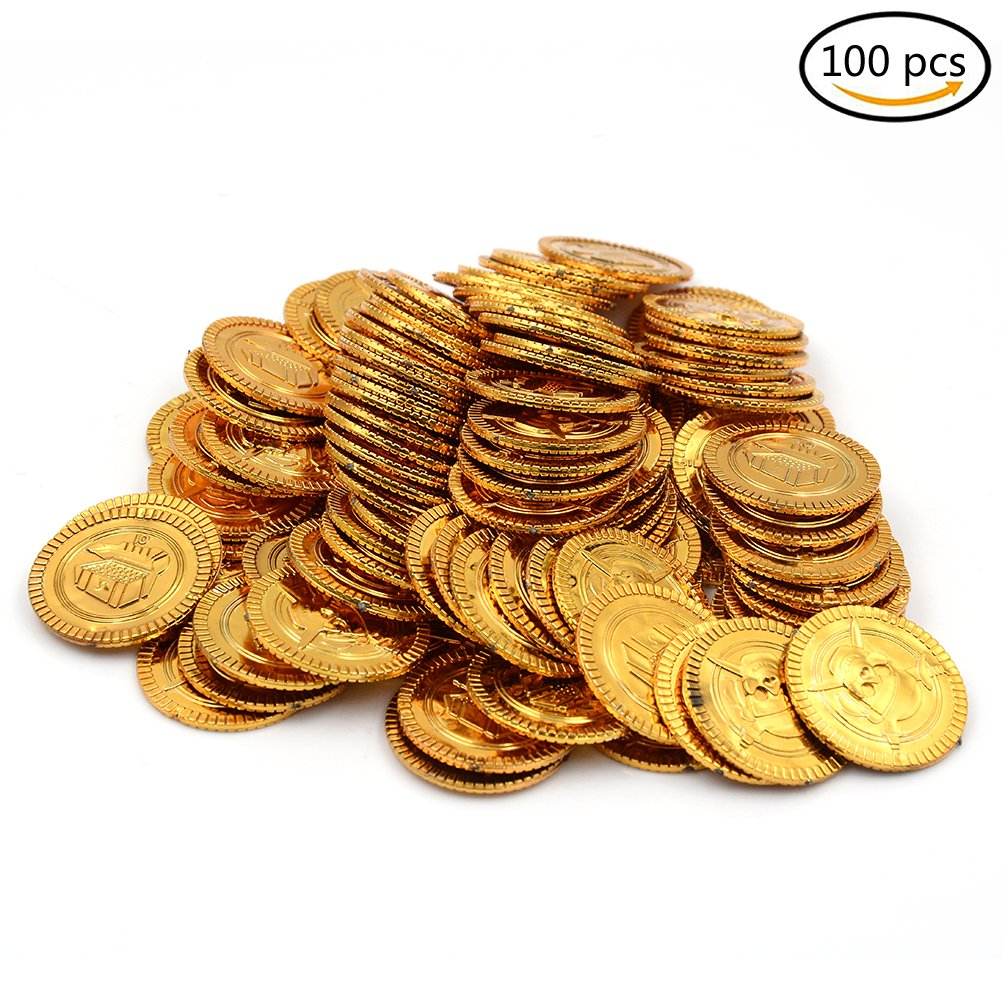 30 Gold and Silver Spanish Doubloon Replicas Metal Pirate Coins