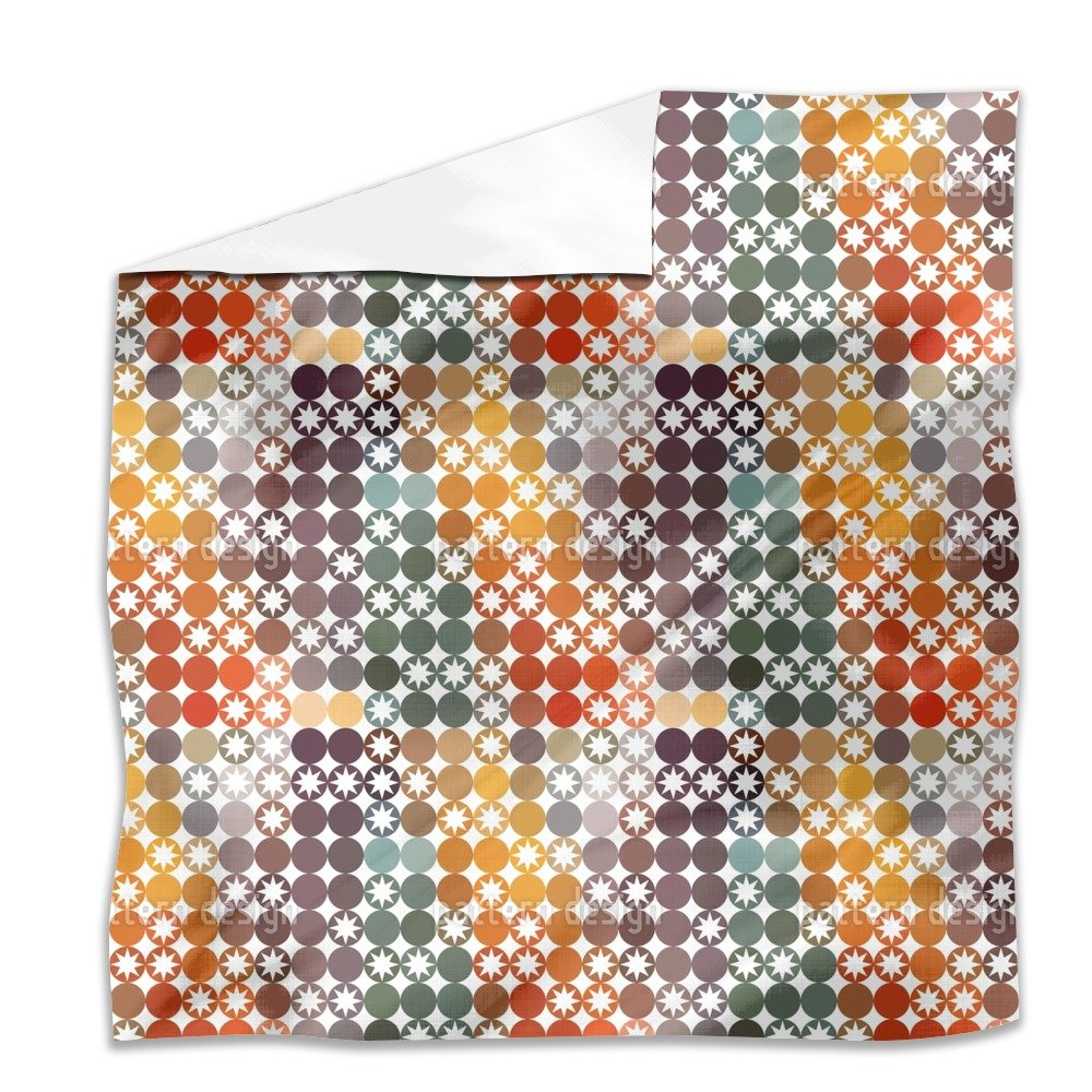 Happy Star Bingo Flat Sheet: Queen Luxury Microfiber, Soft, Breathable by uneekee