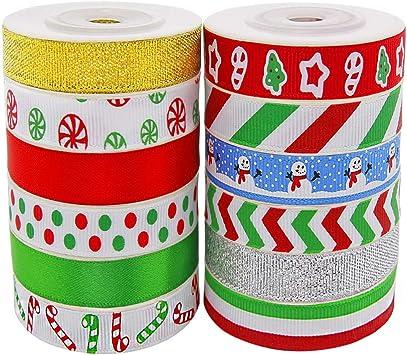 10 Yards//Roll Christmas Ribbons Handmade Cloth for Wedding Party Gift Xmas Decor