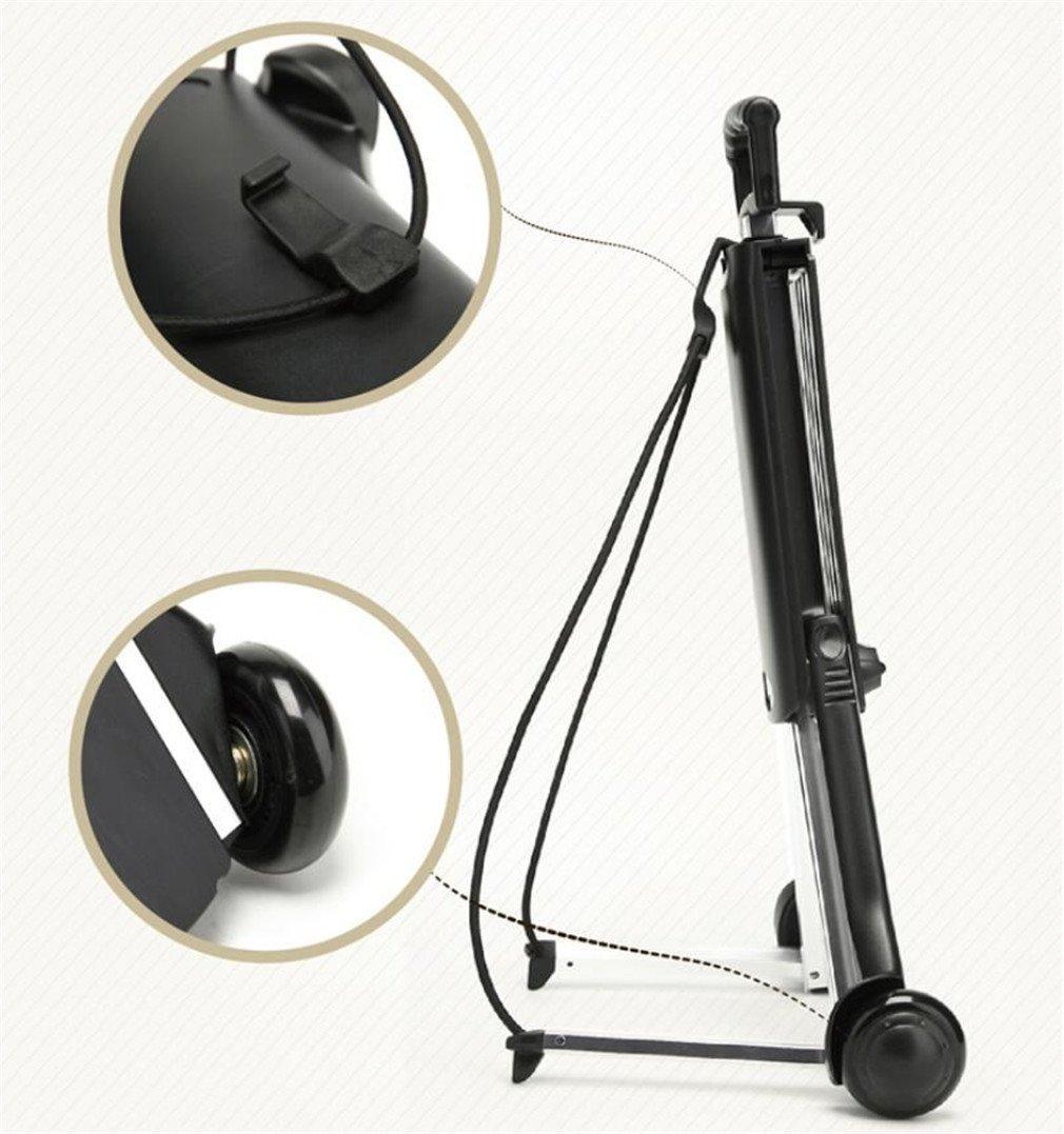 ELEGENCE-Z Trolley Truck Foldable, Aluminum Alloy Black Small Cart Portable Folding Mini Trolley Shopping Cart Bag Car by ELEGENCE-Z (Image #6)