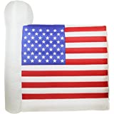 6' Inflatable Lighted Fourth of July American Flag Yard Art Decoration