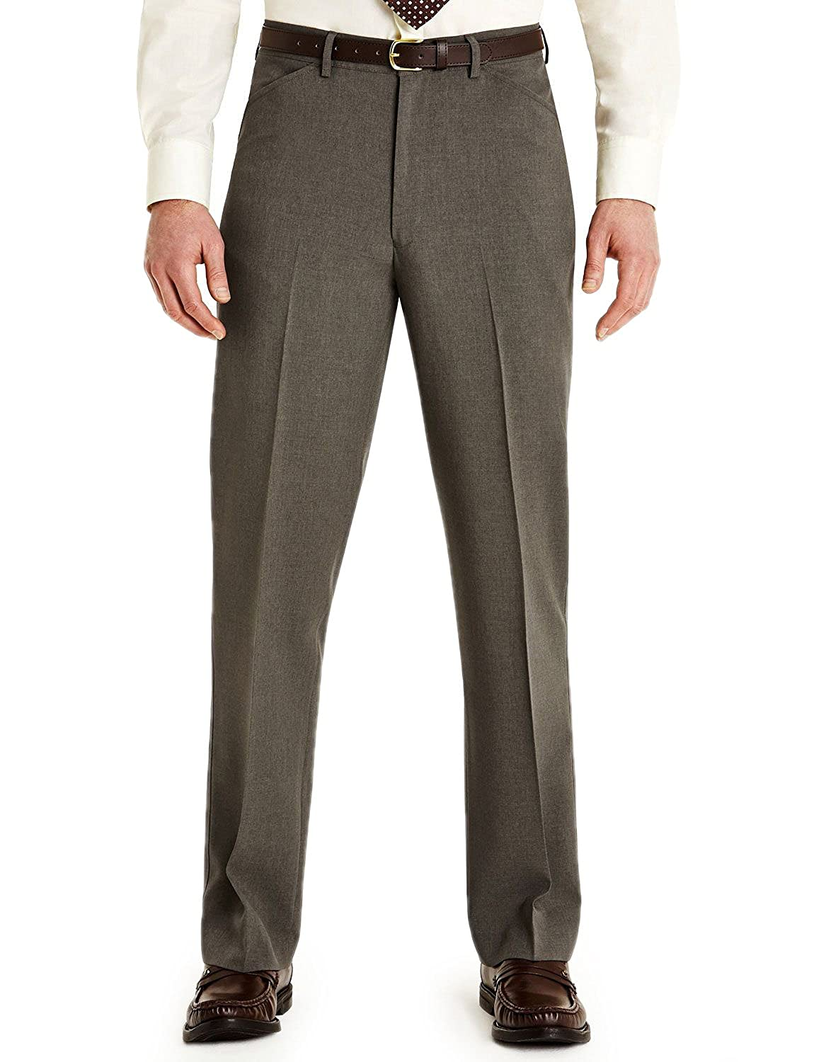 FARAH Mens Frogmouth Pocket Formal Smart Trouser Pants