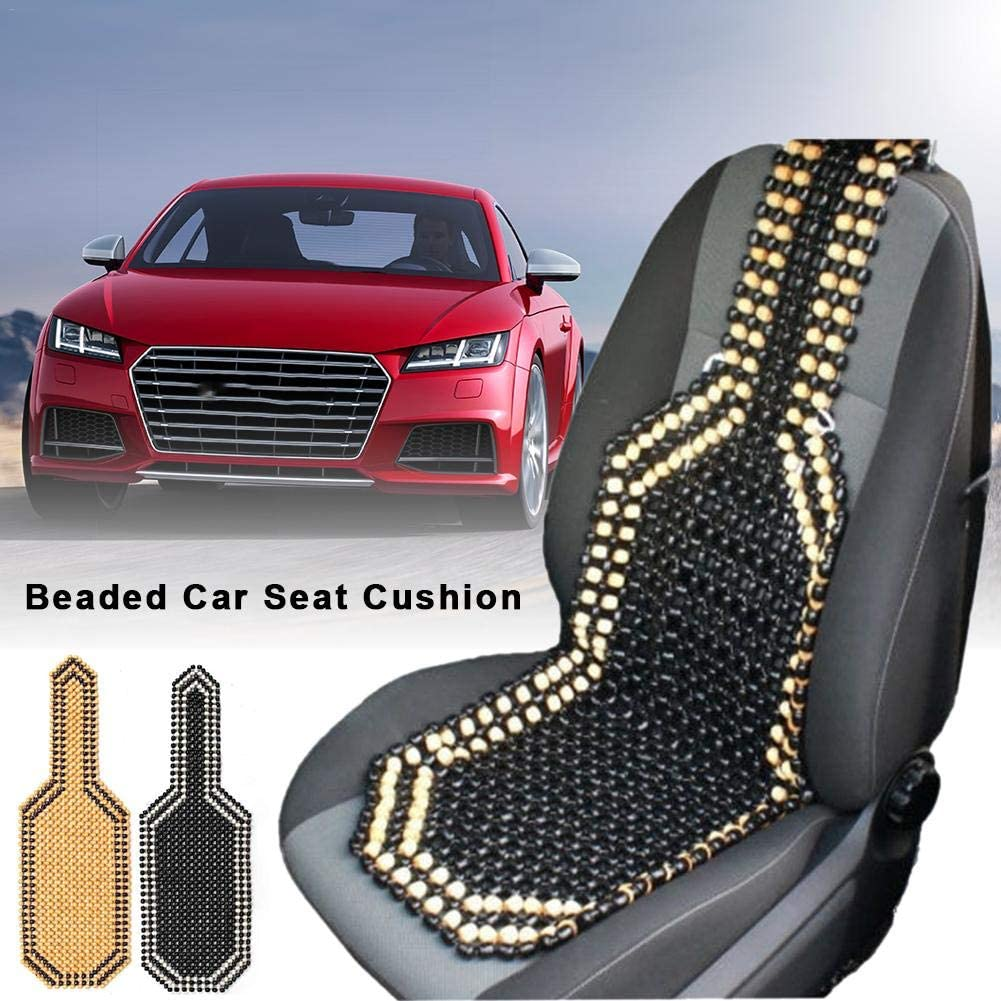 Universal Wooden Beaded Car Seat Cover Massage Cushion Chair Cover for Car Auto Office Home 2 Colors