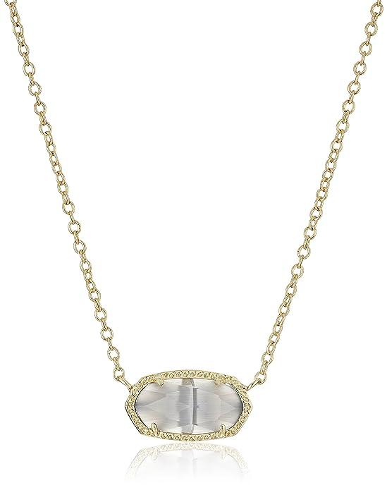 "Kendra Scott ""Signature"" Elisa Gold plated Slate Glass Pendant Necklace"