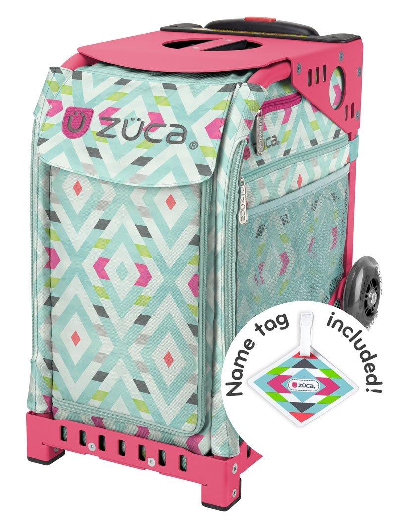 Zuca Chevron Sport roller bag - choose your frame color! (pink frame)
