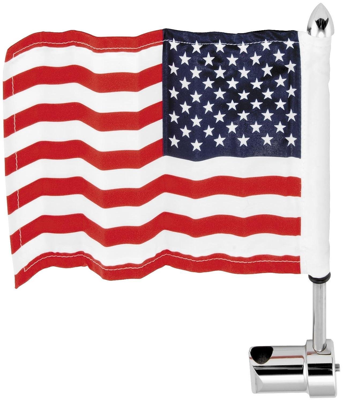 Pro Pad 1//4 Deluxe Sissy Bar Flag Mount With Flag for Honda VTX