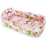 ベビーベッドセット ベッド背もたれ ベッドバンパー 掛け布団 マットレス 枕 弾性コットン 全10種類 - ピンクプリンセス, 100x58cm