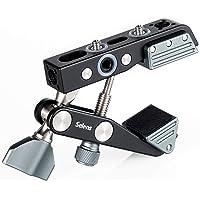 Selens Camera Desk Mount Super Clamp for Cameras, Lights, Umbrellas, Hooks, Shelves, Plate Glass, Cross Bars, with 1/4…