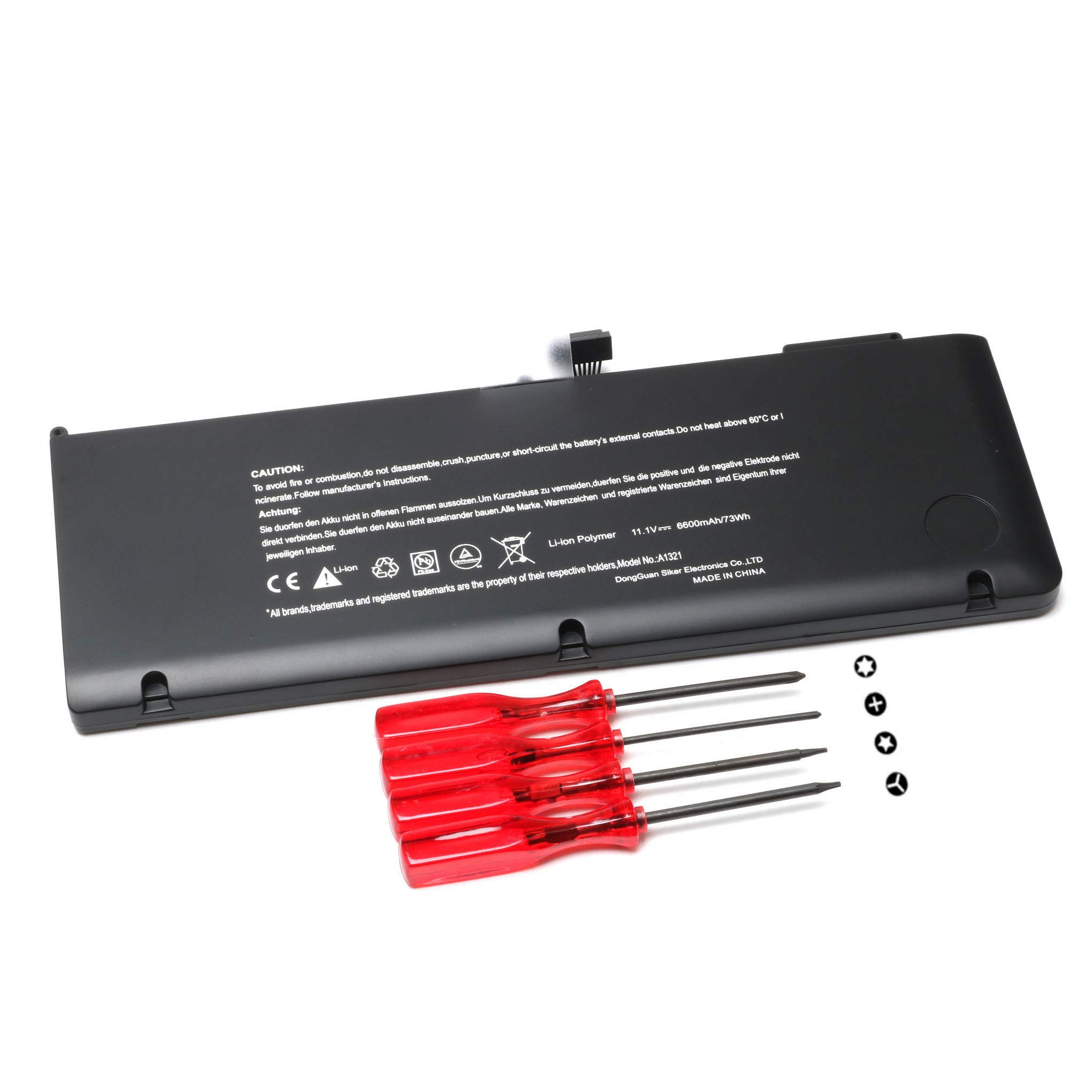 A1321 New Laptop Battery for MacBook Pro 15'' inch A1286 Battery(Only for Mid 2009, Mid 2010 Version),fits MB985 MB986J/A MC118LL/A MC373LL/A MB986LL/A