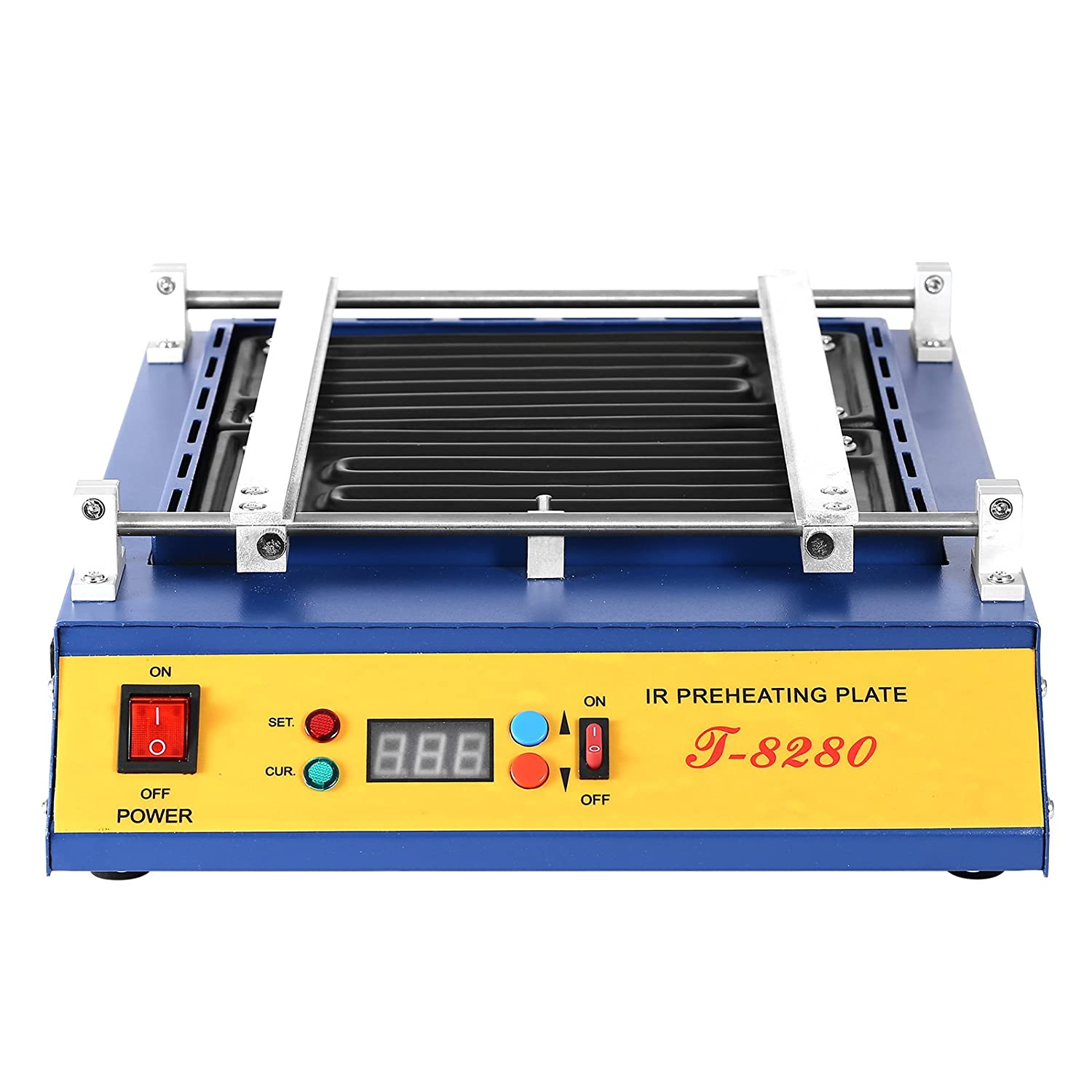 VEVOR Preheating Oven T8280 1600W Infrared Preheating Station Hot Plate PCB Preheater 280x270MM - - Amazon.com