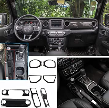 Amazon Com Bestmotoring Carbon Fiber Jeep Jl Interior Trim Center Console Cover Trim Dashboard Decorative Cover Gear Shift Panel Cover For Jeep Wrangler Jl 2018 2020 And Jeep Gladiator Jt 2020 Automotive
