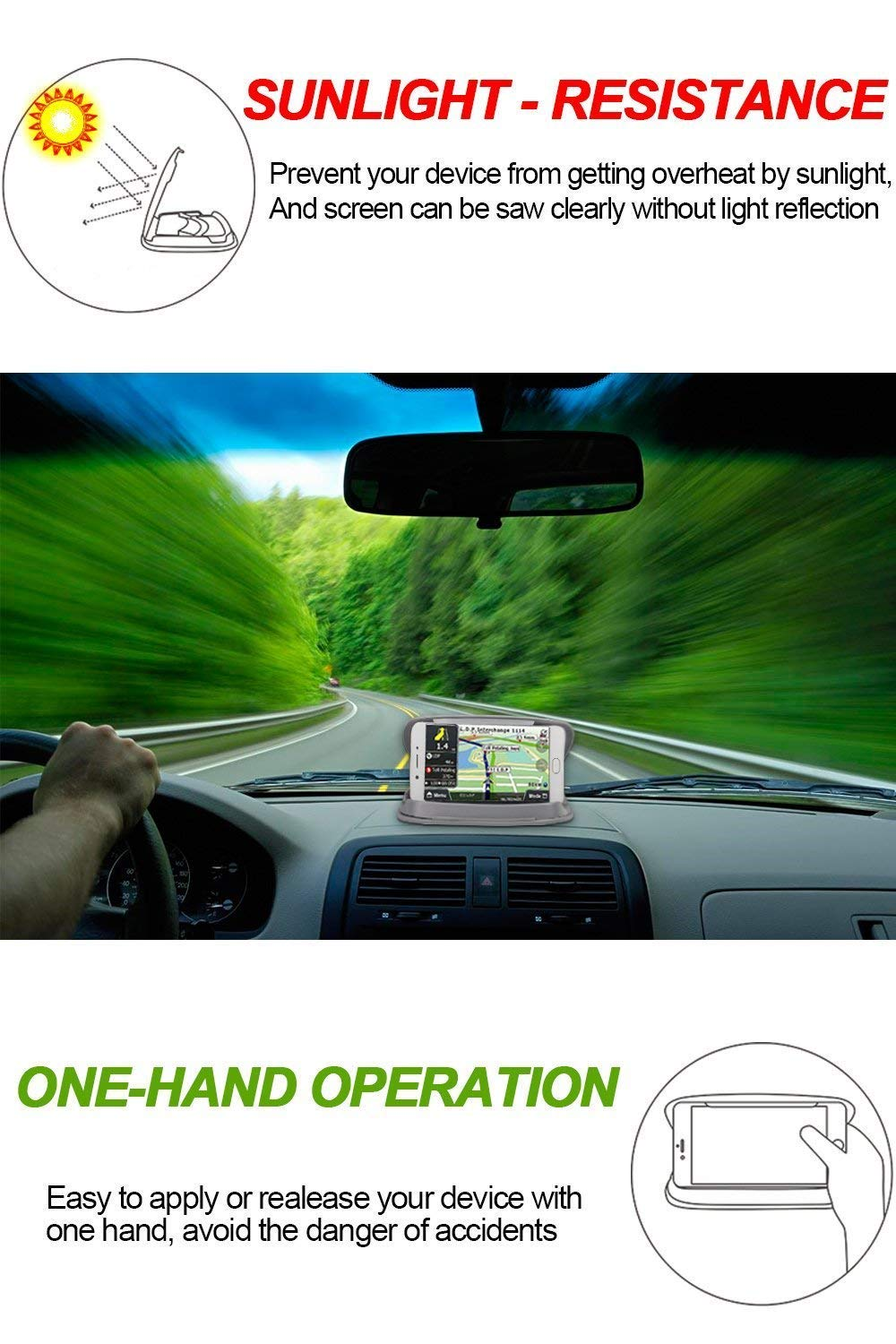 Cell Phone Holder for Car Car Phone Mount Holder Cradle Compatible for iPhone Xs XS Max X 8 8 Plus 7 SE 6s 6 Plus 5s 5 4s Samsung Galaxy S6 S5 Note LG Sony Nokia Google Nexus Motorola and GPS