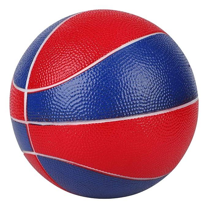 BORPEIN Bal/ón de Baloncesto de Espuma 7 Pulgadas con Bolsa de Almacenamiento de Malla Jugar y Hacer Ejercicio