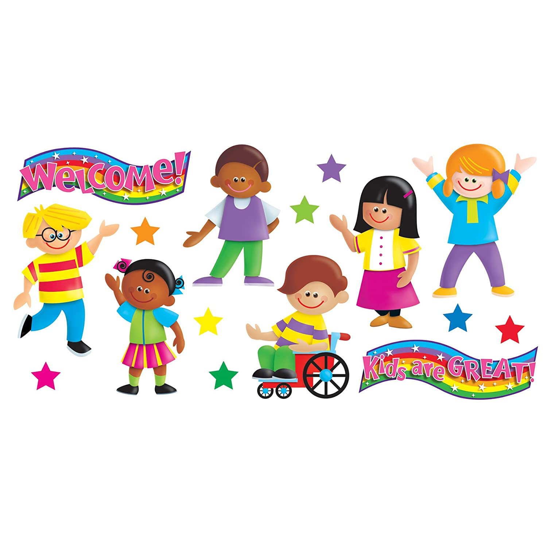 T-8135 Kids are Great Bulletin Board Set Inc TREND enterprises