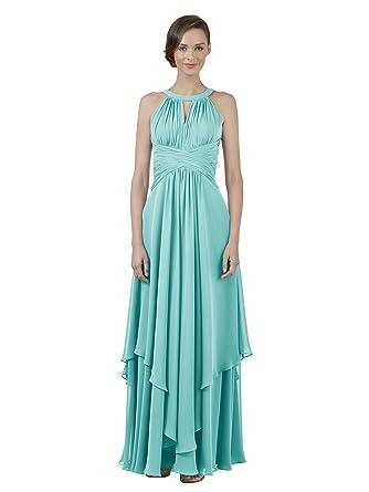 366a7716329 Alicepub Jewel Chiffon Bridesmaid Dress Long A-Line Party Prom Gown Evening  Dress