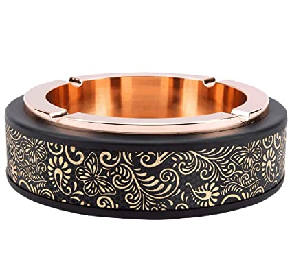 NKLD Ceniceros Portátiles Cenicero Metal Europeo Ceniceros Portátiles Moda Creativa Cenicero Diseño Antideslizante Diseño Bote De