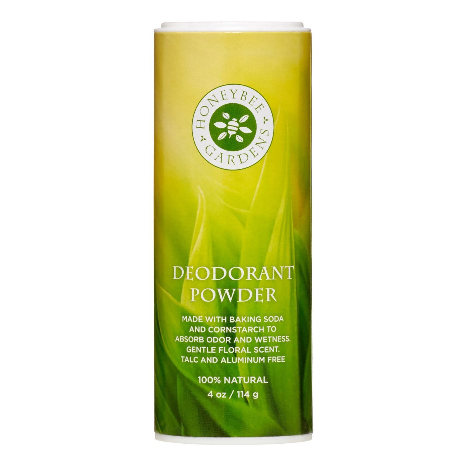 Honeybee Gardens - Deodorant Powder, Aluminum and Talc Free, 4 oz/114 g