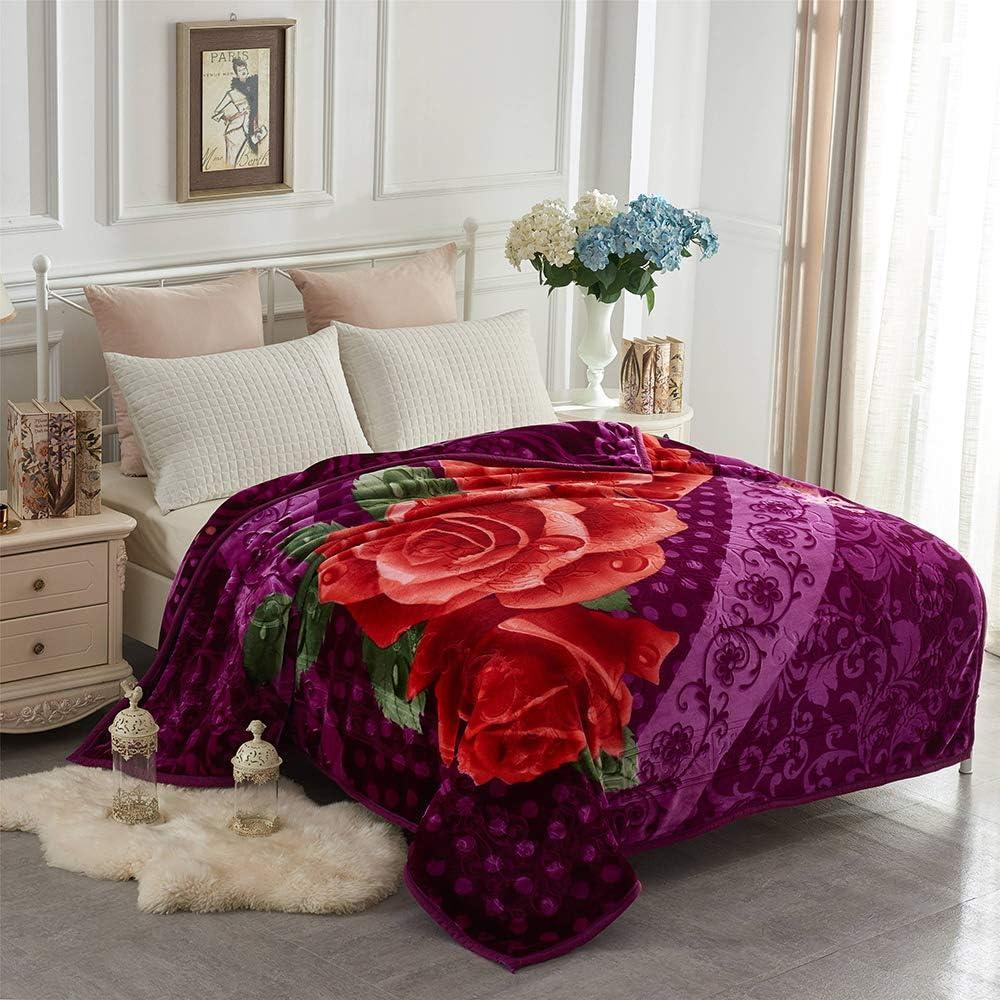 Heavy Korean Mink Fleece Blanket 2 Ply Reversible 520gsm Silky Soft Plush Warm Blanket For Autumn Winter Amazon Ca Home Kitchen