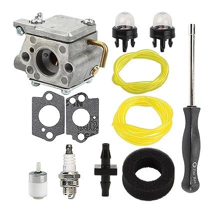 Salvador carburador 753 – 04333 con línea de combustible conector Kits para Ryobi 700R 700rvp 704R