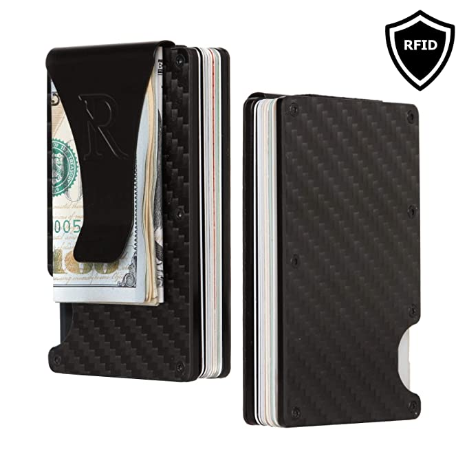 9fcce4feb68 Men's Slim Credit Card Holder and Money Clip Wallet with RFID Blocking by  Rennold | Thin Minimalist Wallet for Men