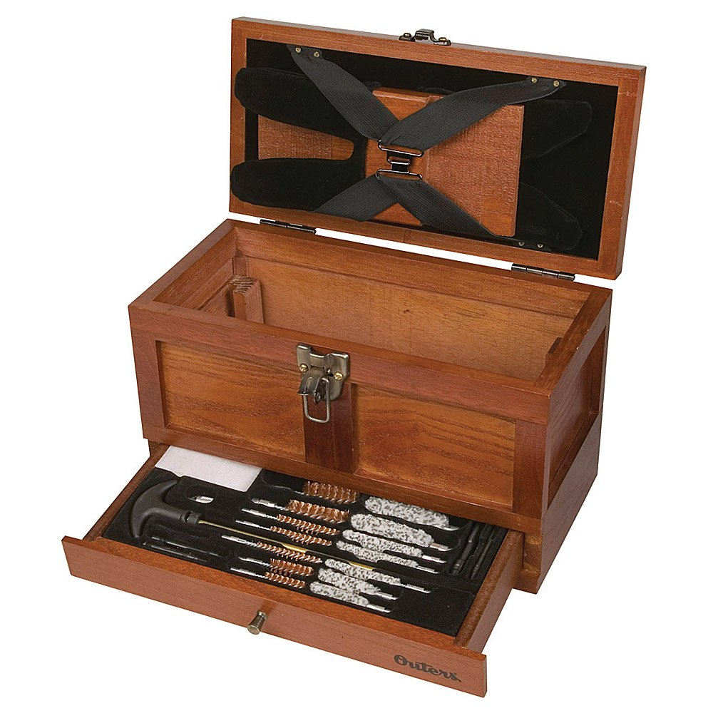 Outers 70084 25 - Piece Universal Wood Gun Cleaning Tool Chest (.22 Caliber and up) by Outers