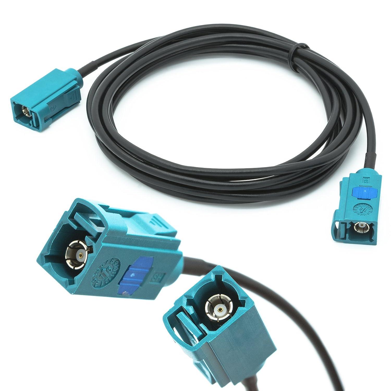 Adapter-Universe 2 m cable de extensió n de antena de coche Fakra hembra en Fakra hembra Z RG174 adaptador de coche para Universal Fakra 1211
