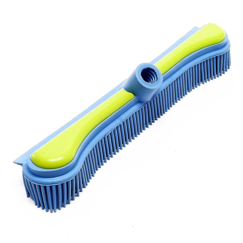 Wiltec Sweepa Scopa di Gomma Blu Verde in Gomma Naturale Antistatica