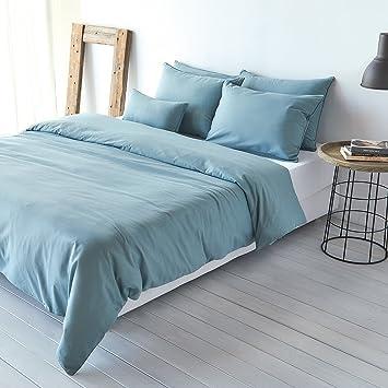 Traumschlaf Uni Leinen Bettwäsche Jade 1 Bettbezug 135x200