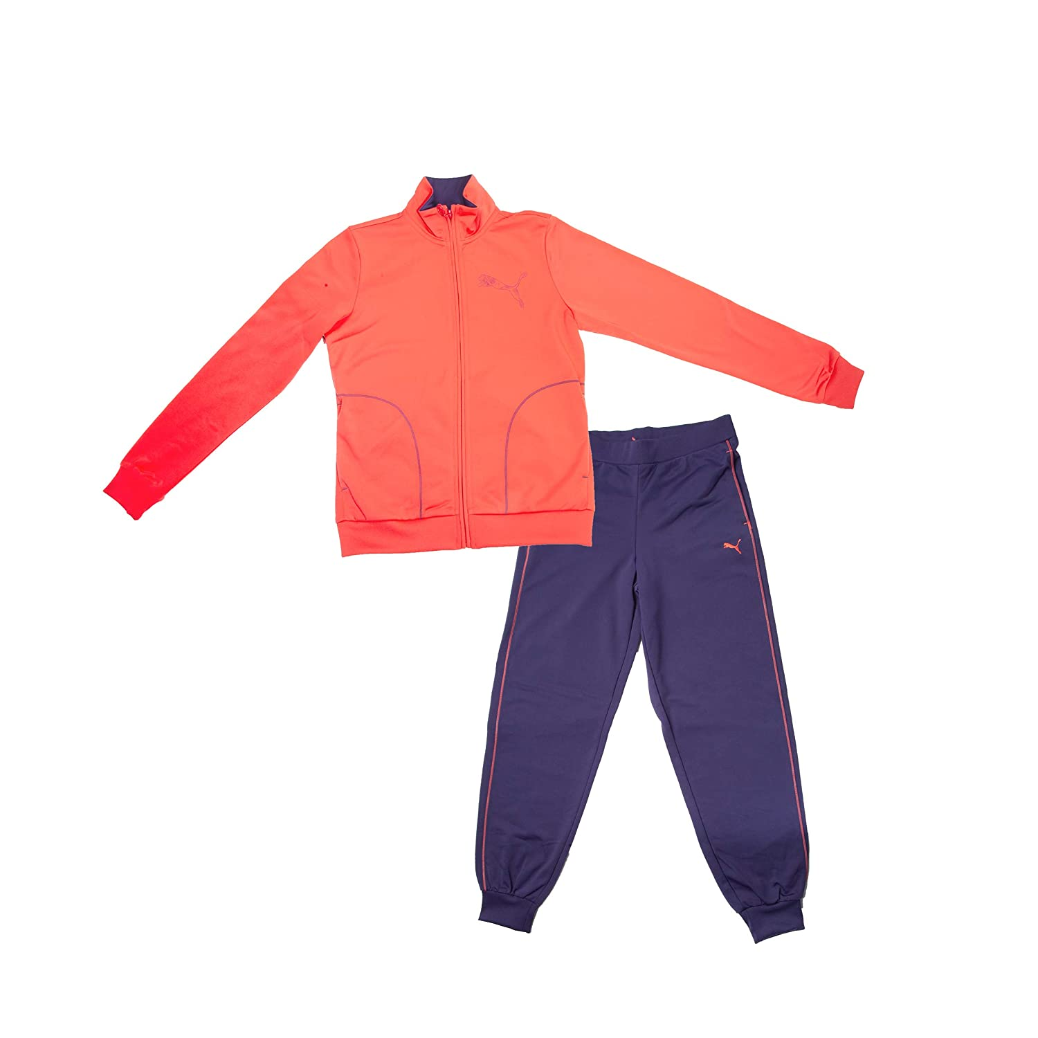 Puma Chandal Fun Graphic ESS Poly Suit CLOSSED G Cayenne: Amazon ...