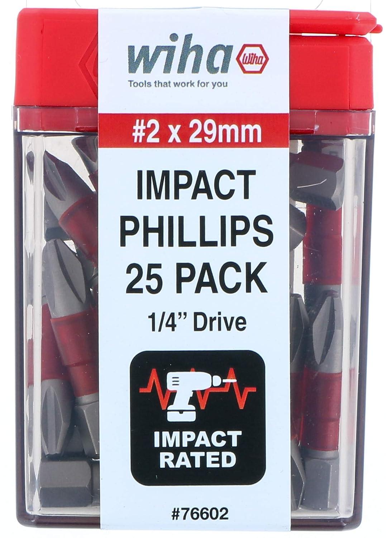 Impact Insert Bit Phillips #2-25 Pack