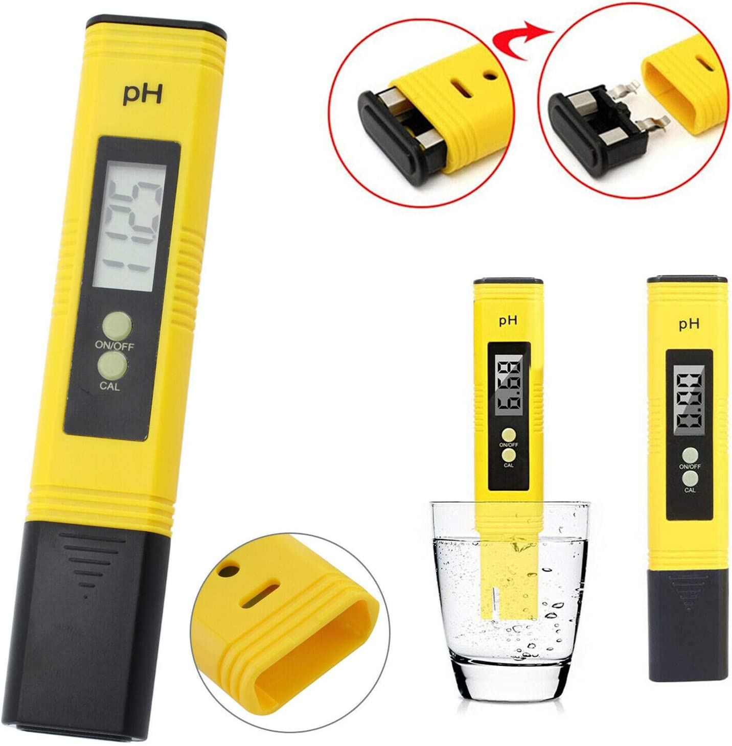 Kabalo 0.01 Resolution Electric Digital PH Tester Water Pool Hydroponics Aquarium Test Pen Pocket Meter with Auto Calibration Function