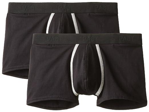 b662156da9b06 Pact Men's Organic Cotton Stretch Trunk Brief Underwear, Black Large ...