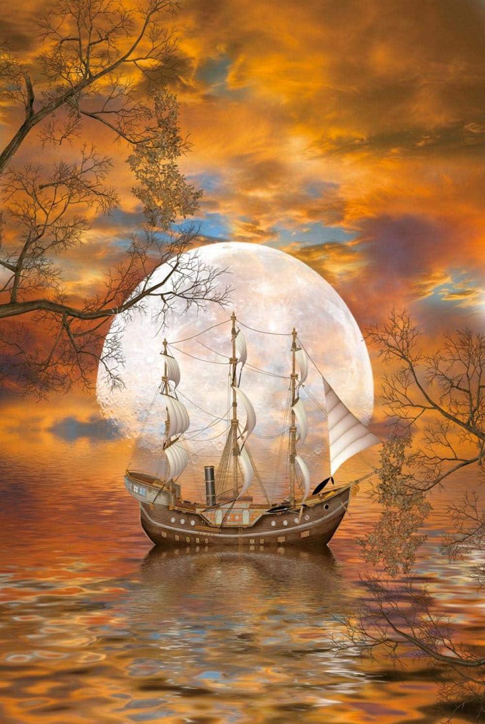 MTAMMD Puzzles Moon Boat De Madera 5000 Piezas Rompecabezas para Adultos 500/1000/2000 Piezas Juguetes De Poder Intelectual Regalos para Niños-1000Pieces: Amazon.es: Deportes y aire libre
