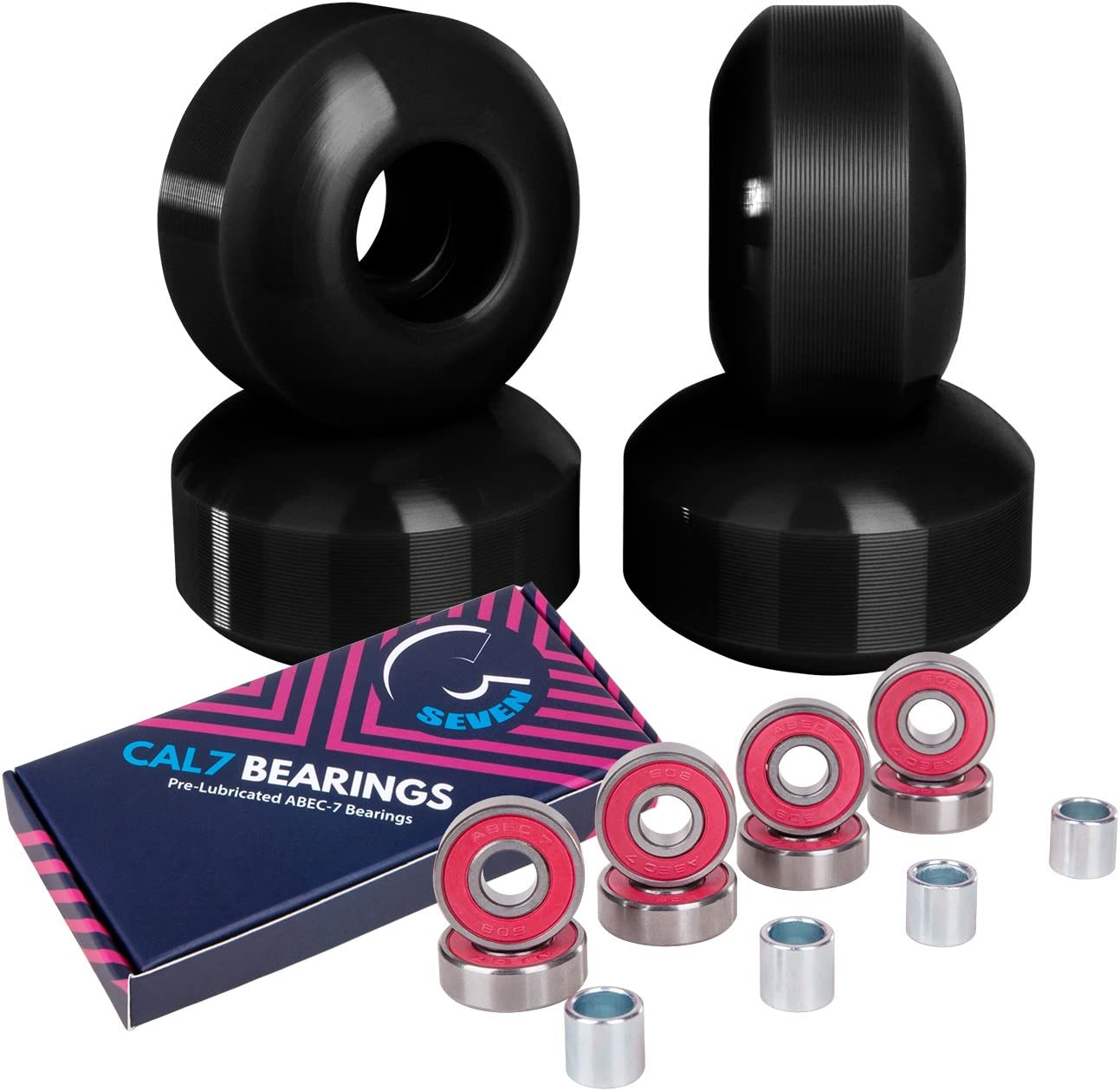 Cal 7 52mm Skateboard Wheels with Bearings