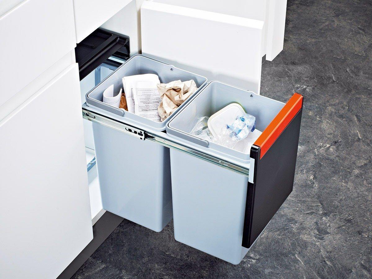 Amazon.com: Franke Cube 30 2-Way Manual Pull-Out Waste / rubbish bin ...