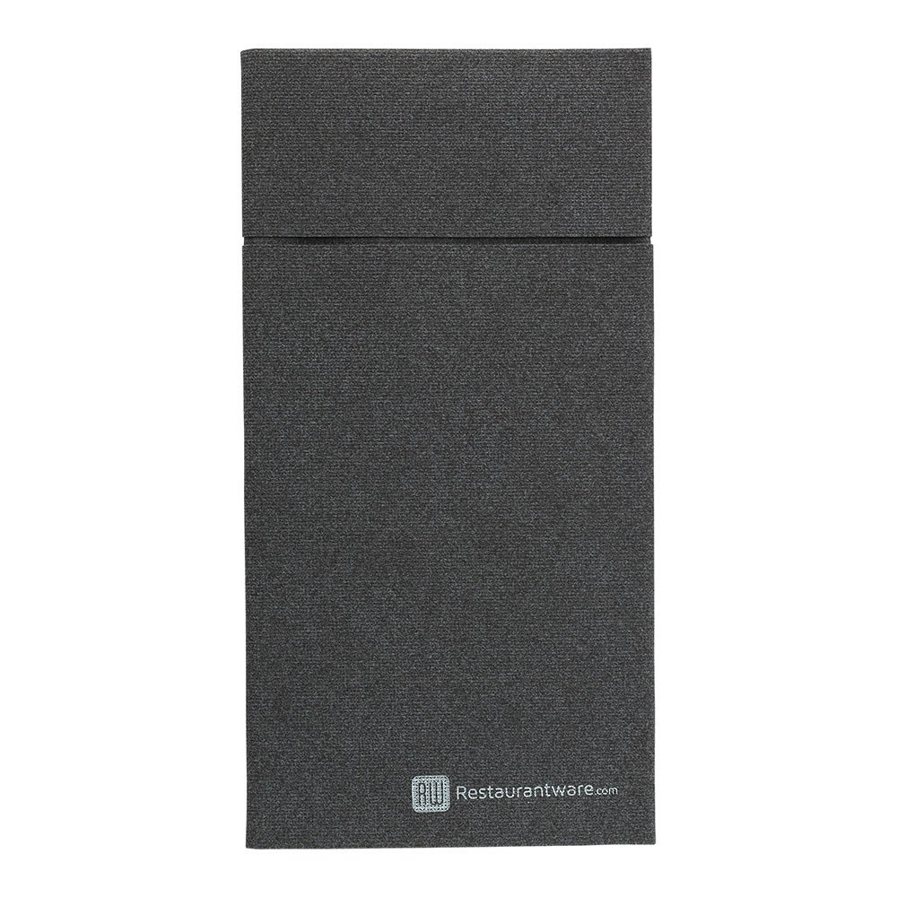 Kangaroo Paper Napkins, Dinner Napkins, Flatware Pocket - Black - 16'' x 16'' - Disposable - Luxenap Air Laid - 480ct Box - Restaurantware