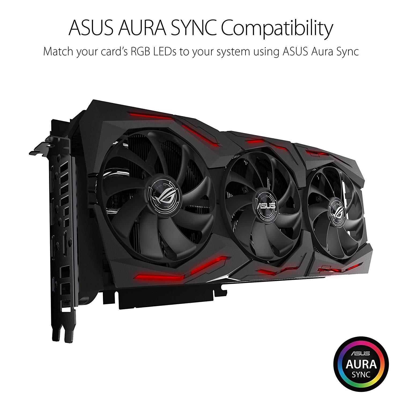 ASUS ROG STRIX GeForce RTX 2080TI Overclocked 11G GDDR6 HDMI DP 1.4 USB Type-C Gaming Graphics Card (ROG-STRIX-RTX-2080TI-O11G)