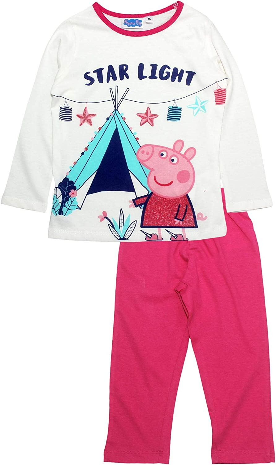 Ages 5-6 Years Peppa Pig Girl/'s Peppa and George Pants Set New Outfit