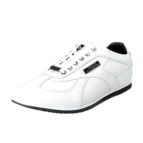 378fc8686431d Amazon.com: Versace Collection Men's White Leather Fashion Sneakers ...