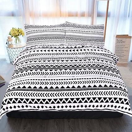 Amazon Com Sleepwish 3 Piece Aztec Bedding Striped Duvet Cover With