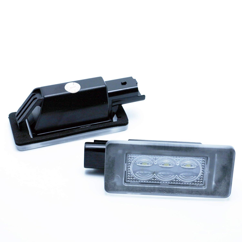 VINSTAR LEDPremium 2X Luces DE MATRICULA LED HOMOLOGADAS E4 308 II MK2 207 CC 3008 2008 208 Crossover CANBUS