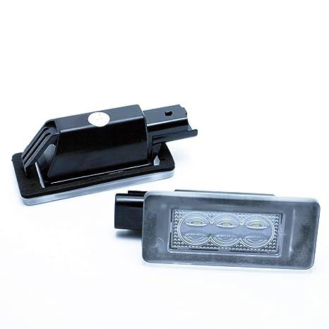 VINSTAR LEDPremium 2X Luces DE MATRICULA LED HOMOLOGADAS E4 308 II MK2 207 CC 3008 2008
