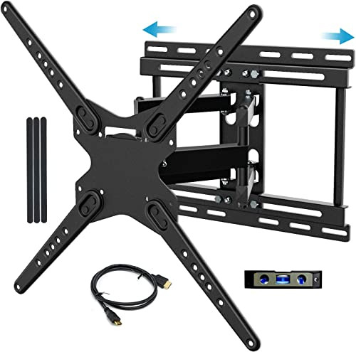 BLUE STONE Tilt TV Wall Mount Full Motion Bracket for Most 32-83 Inch TVs, Dual Swivel Articulating Arms Sliding Design Wall Mount TV Bracket for LED, LCD Flat Screen Curved TVs, VESA 600x400mm 99 lbs