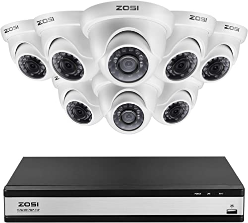 ZOSI 16 Channel Security Camera System Dome