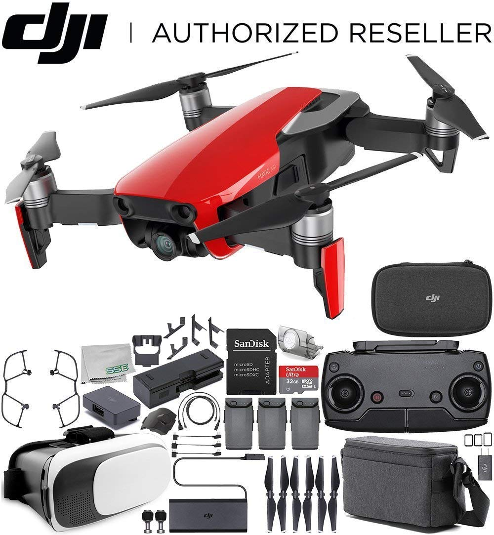 DJI Mavic Air Drone Quadcopter Fly More Combo (Flame Red) Virtual ...