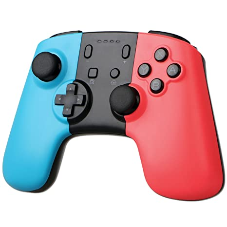 Sunjoyco Wireless Remote Pro Controller Joypad Gamepad for Nintendo Switch  Console - Blue + Red