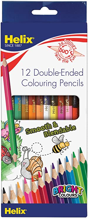 Helix Pencil Crayons Colouring Pencils Pack of 12 Smooth /& Blendable