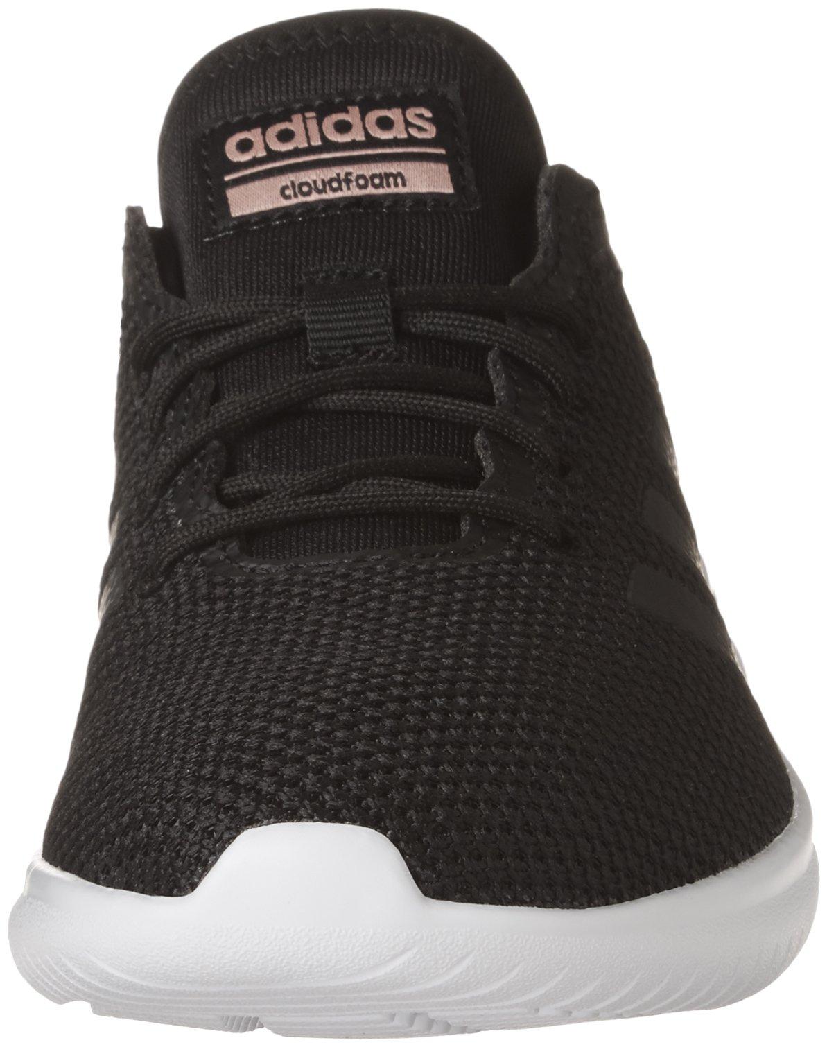 Adidas donne cloudfoam qt flex scarpe da ginnastica, nero / nero / traccia rosa, 8