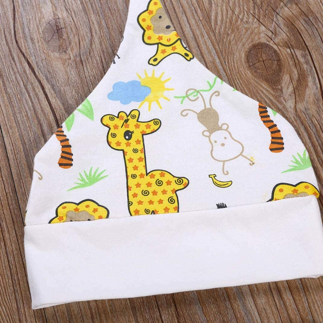 Infant Baby Girls Boys Letter Print Romper Jumpsuit Animal Giraffe Pants Hat Outfits for 0-24 Months Age: 0-6 Months TM Newborn Autumn Romper Sets,Jchen
