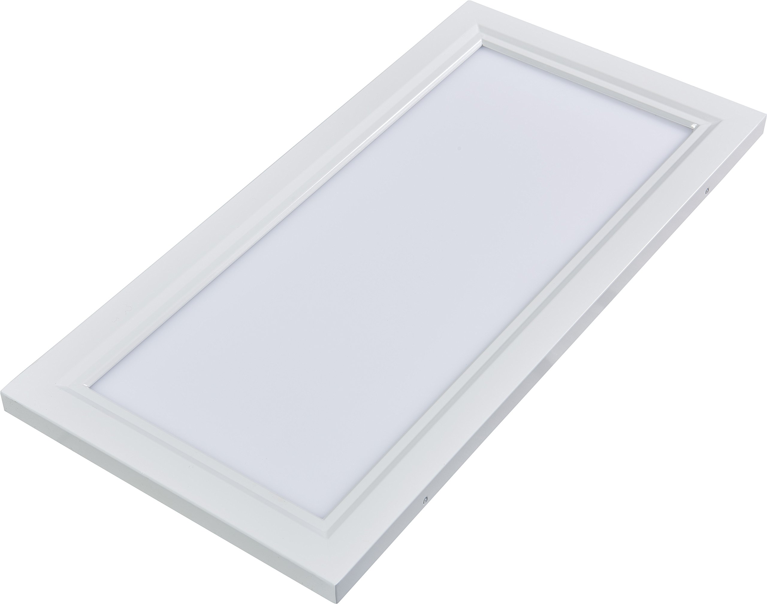 Inti Lighting 1'x2' Dimmable 15 Watt LED Flush Mount Troffer Flat Panel Light 3000K Bright White